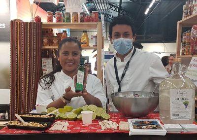 Chefkoch Veronica Moreno Restaurant Strret Food Krioya Lyon auf dem Omnivore Festival 2021