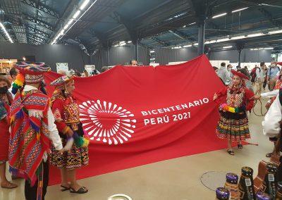 Einweihung des peruanischen Standes auf dem Omnivore Festival 2021